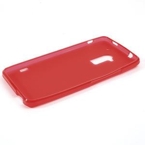 Gelové matné pouzdro pro HTC one Max- červená - 2