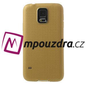 Gelové pouzdro na Samsung Galaxy S5- zlaté - 2