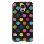 Gelové puntíkaté pouzdro na Samsung Galaxy S5- černobarevné - 2/5