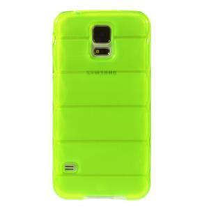 Gelové vesta pouzdro na Samsung Galaxy S5- zelené - 2