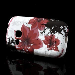 Gelové pouzdro na Samsung Galaxy Young S6310- červený květ - 2