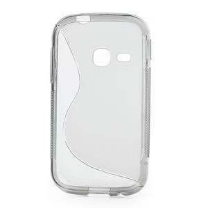 Gelové S-line pouzdro na Samsung Galaxy Young S6310- šedé - 2
