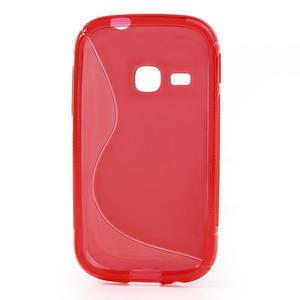 Gelové S-line pouzdro na Samsung Galaxy Young S6310- červené - 2