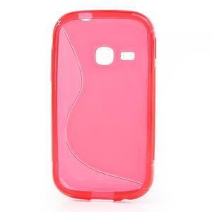 Gelové S-line pouzdro na Samsung Galaxy Young S6310- růžové - 2