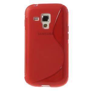 Gelové S-line pouzdro pro Samsung Trend plus, S duos- červené - 2