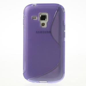 Gelové S-line pouzdro pro Samsung Trend plus, S duos- fialové - 2