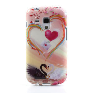 Gelové pouzdro na Samsung Galaxy Trend, Duos- labutí srdce - 2