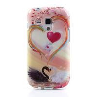Gelové pouzdro na Samsung Galaxy Trend, Duos- labutí srdce - 2/5