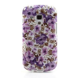 Gelové pouzdro na Samsung Galaxy Trend, Duos- fialové květy - 2