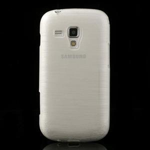 Kartáčované pouzdro na Samsung Galaxy Trend, Duos- bílé - 2
