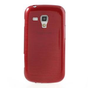 Kartáčované pouzdro na Samsung Galaxy Trend, Duos- červené - 2