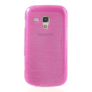 Kartáčované pouzdro na Samsung Galaxy Trend, Duos- růžové - 2
