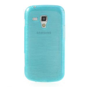 Kartáčované pouzdro na Samsung Galaxy Trend, Duos- modré - 2