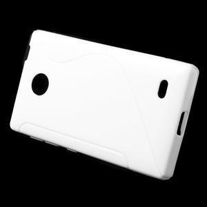 Gelové S-line pouzdro na Nokia X dual- bílé - 2