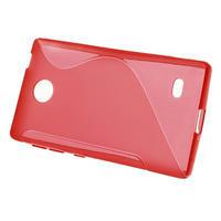 Gelové S-line pouzdro na Nokia X dual- červené - 2/5