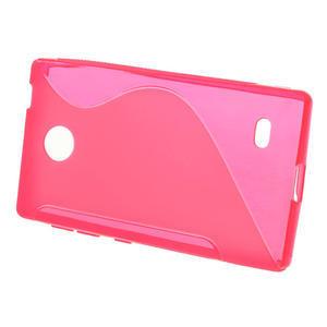 Gelové S-line pouzdro na Nokia X dual- růžové - 2