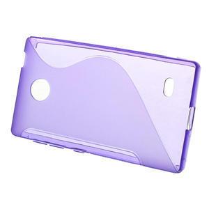 Gelové S-line pouzdro na Nokia X dual- fialové - 2