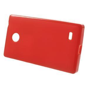 Gelové matné pouzdro na Nokia X dual- červené - 2