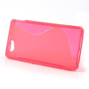 Gelové S-line pouzdro na Sony Xperia Z1 Compact D5503- růžové - 2
