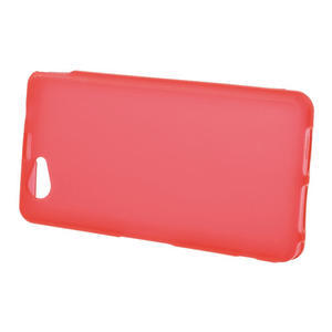 Gelové matné  pouzdro na Sony Xperia Z1 Compact D5503- červené - 2