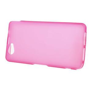 Gelové matné pouzdro na Sony Xperia Z1 Compact D5503- růžové - 2