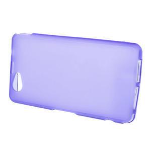 Gelové matné pouzdro na Sony Xperia Z1 Compact D5503- fialové - 2