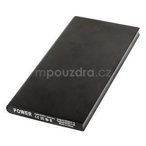 Luxusní kovová externí nabíječka power bank 12 000 mAh - černá - 2