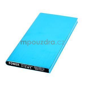 Luxusní kovová externí nabíječka power bank 12 000 mAh - modrá - 2