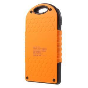 Outdoor GX vysokokapacitní externí solární nabíječka 12 000 mAh - oranžová - 2
