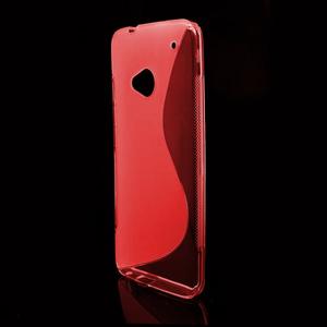 Gelové S-line pouzdro pro HTC one M7- červené - 2