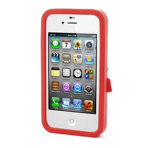Silikonové pouzdro na iPhone 4 4S - sněhulák - 2