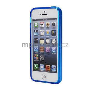 Gelové pouzdro pro iPhone 5, 5s- modré - 2