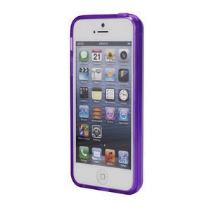 Gelové pouzdro pro iPhone 5, 5s- fialové - 2