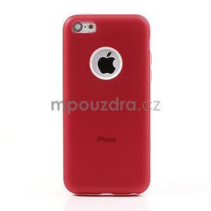 Gelové rámové pouzdro pro iPhone 5C- červené - 2