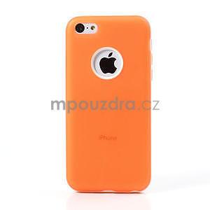 Gelové rámové pouzdro pro iPhone 5C- oranžové - 2