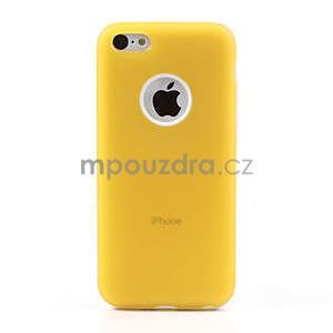 Gelové rámové pouzdro pro iPhone 5C- žluté - 2