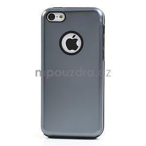 Gelové metalické pouzdro pro iPhone 5C- šedé - 2