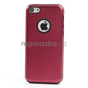 Gelové metalické pouzdro pro iPhone 5C- červené - 2