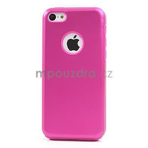 Gelové metalické pouzdro pro iPhone 5C- růžové - 2