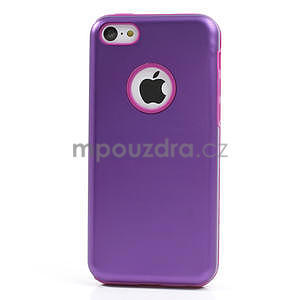 Gelové metalické pouzdro pro iPhone 5C- fialové - 2