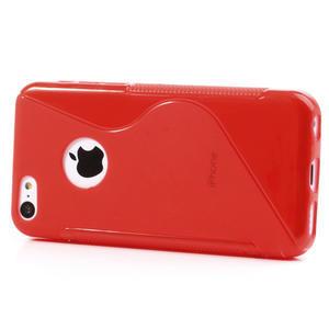 Gélové S-line puzdro pre iPhone 5C- červené - 2