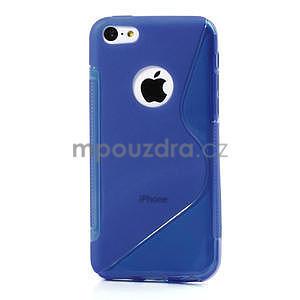 Gelové S-line pouzdro pro iPhone 5C- modré - 2