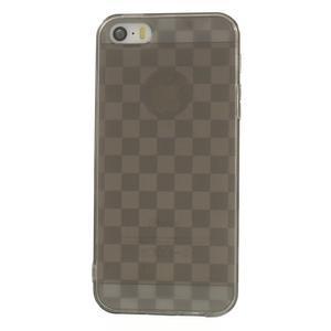 Gel-koskaté pouzdro pro iPhone 5, 5s- šedé - 2