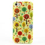Gelové pouzdro na iPhone 5, 5s- Sovy a stromy - 2/5