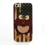 Gelové pouzdro na iPhone 5, 5s- kuřecí americká vlajka - 2/5