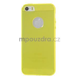 Gel-ultra slim pouzdro pro iPhone 5, 5s- žluté - 2
