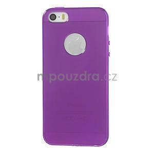 Gel-ultra slim pouzdro pro iPhone 5, 5s-fialové - 2