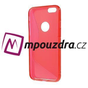 Gelové S-line pouzdro na iPhone 6, 4.7 - červené - 2