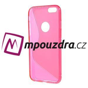 Gelové S-line pouzdro na iPhone 6, 4.7 - růžové - 2
