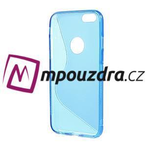 Gelové S-line pouzdro na iPhone 6, 4.7 - modré - 2